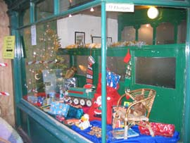 The Christmas window display