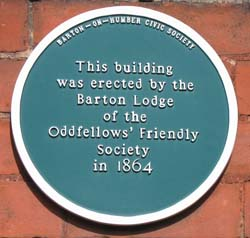 Oddfellows Plaque