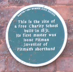 Charity School Plaque