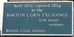Barton Corn Exchange Plaque