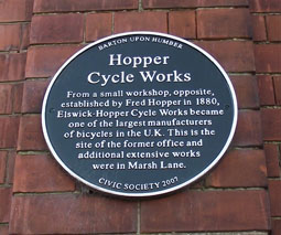Hopper Cycle Works Plaque