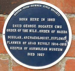 David Hogarth Plaque
