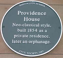 Providence House Plaque