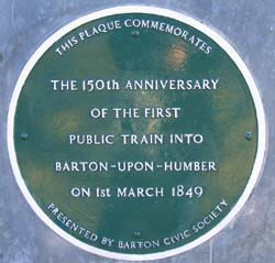 Train Station Plaque