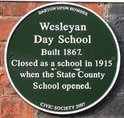 Wesleyan Plaque
