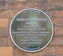 National Infant School Plaque