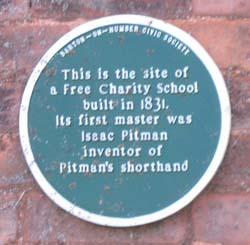 Charity School Plaque