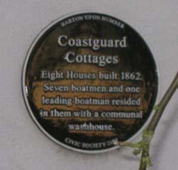 Coastguard Cottages Plaque