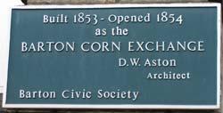 Barton Corn Exchange Plaque