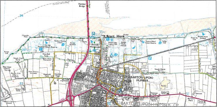 Map of Barton Walk