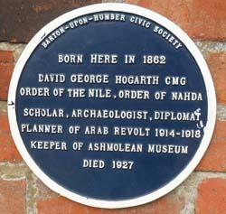 David Hogarth Plaque