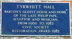 Tyrwhitt Hall Plaque