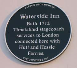 Waterside Inn Plaque